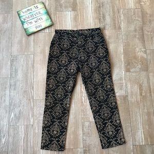 St Johns Bay Vintage🍂 Black Pattern Corduroy Pant